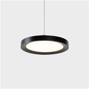 VONN Lighting Salm LED Pendant Light - 6-in - Black
