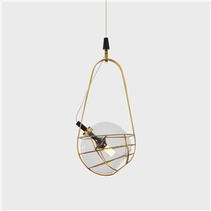 VONN Lighting Firenze LED Pendant Light - 7.75-in - Antique Brass
