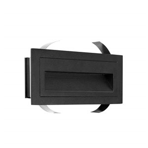 VONN Lighting Outdoor Step Light - LED - 8-in - Black