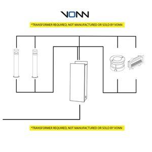 VONN Lighting Rectangular Outdoor Step Light - LED - 10-in - Black