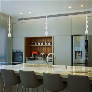 VONN Lighting Polaris LED Pendant Light - 3-in - White