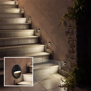 VONN Lighting Outdoor Step Light - LED - 5-in - Black