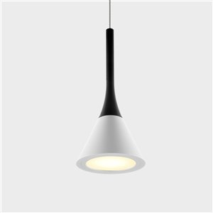 VONN Lighting Polaris LED Pendant Light - 5-in - White