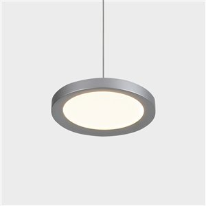 VONN Lighting Salm LED Pendant Light - 6-in - Silver