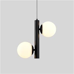 VONN Lighting Capri LED Pendant Light - 12.25-in - Black