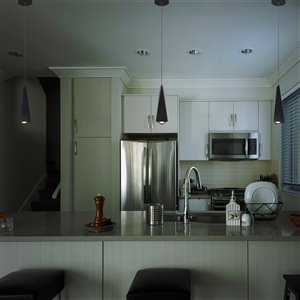 VONN Lighting Polaris Modern LED Pendant Light - 3-in - Black