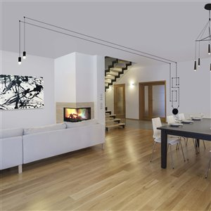 VONN Lighting Expression LED Pendant Light - 9.75-in - Black