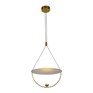 VONN Lighting Como LED Pendant Light - 15.75-in - Antique Brass