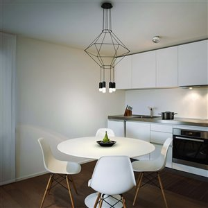 VONN Lighting Expression LED Pendant Light - 27.25-in - Black