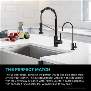 Kraus Pull-Down Kitchen Faucet and Water Filter - Matte Black