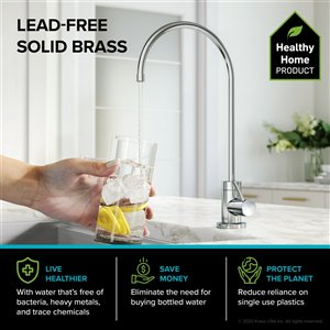 Kraus Pull-Down Kitchen Faucet and Water Filter - Chrome