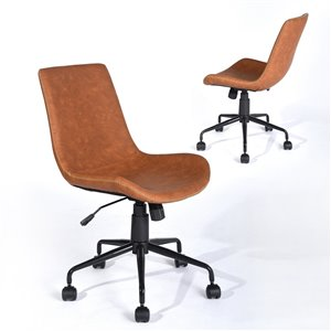 FurnitureR ADAMS PU Office Chair Contemporary - Brown