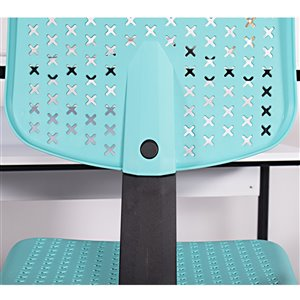 FurnitureR IWC Colorful Office Chair PP with 5 Casters - Turquoise