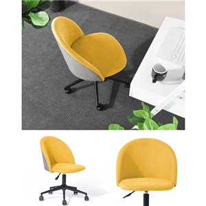 FurintureR DUDLEY Contemporary Office Chair in Fabric Yellow