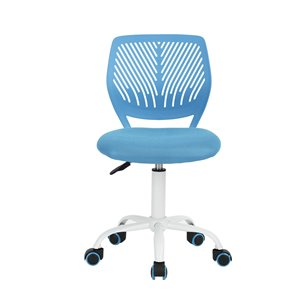 FurnitureR  CARNATION Colorful Office Chair Breathable Mesh - Blue