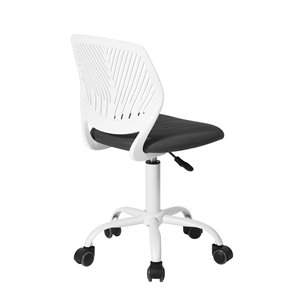FurnitureR CARNATION Colorful Office Chair Breathable Mesh - 5 Casters - Grey