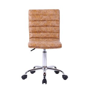 Plata Import Moe Modern Office Chair with Antique Finish- Tan