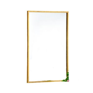 Plata Import Ruo Rectangle Wall Mirror - Vertical/Horizontal - Gold