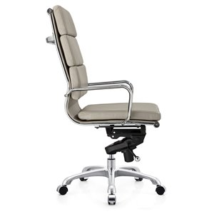 Plata Import Paco Leather High Back Office Chair - Gray