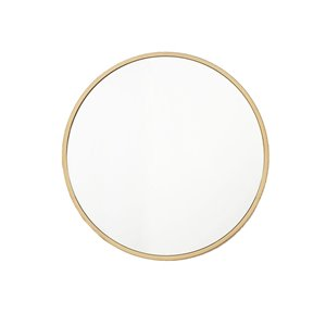 Plata Import Ro Round Wall Mirror - Vertical/Horizontal - Gold