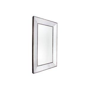 Plata Import Sash Rectangle Wall Mirror - Vertical - 50-inch - Chrome