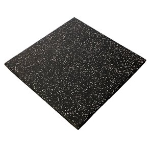 RubberMax Tile - 19.75-in x 19.75-in - 3 sq ft - Black/Gray