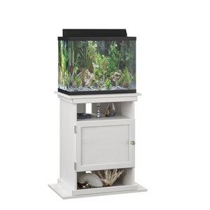 Ameriwood Flipper 10/20 Gallon Aquarium Stand - 15.67-in x 25-in x 28.03-in - Ivory Oak