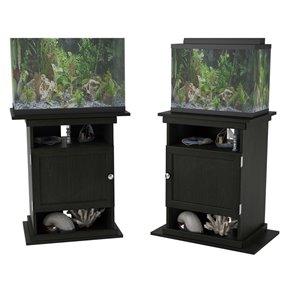 Ameriwood Flipper 10/20 Gallon Aquarium Stand - 15.69-in x 25-in x 28-in - Black Oak
