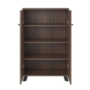 Ameriwood AX1 Storage Cabinet - 2 Doors - 31.5-in x 17.72-in x50.2-in - Medium Brown