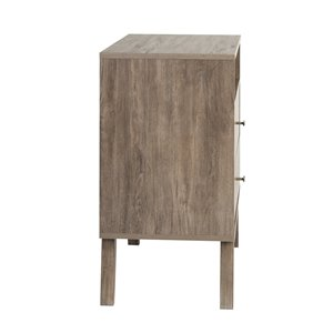 Prepac Milo 2-drawer Tall Nightstand with Open Shelf, Drifted Gray
