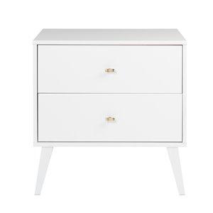 Prepac Milo 2-drawer Nightstand, White