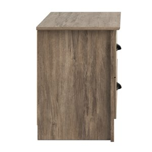 Prepac Salt Spring 2-drawer Night Stand in Drifted Gray