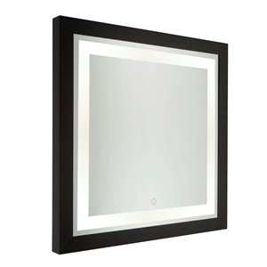 Artcraft Lighting Valet SC13109 LED Mirror - 30-in x 30-in - Matte Black