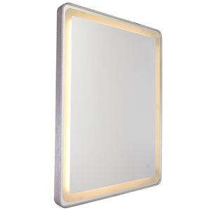 Artcraft Lighting Reflections AM301 LED Mirror - 24-in x 32-in - Brushed Aluminum