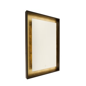 Artcraft Lighting Reflections AM312 LED Mirror - 23.5-in x 31.5-in - Oil Rubbed Bronze & Gold Leaf