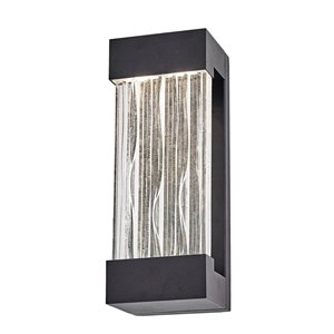 Artcraft Lighting Watercrest AC9160BK Outdoor Wall Light - 4.5-in x 3.75-in x 12-in - Black