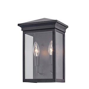 Artcraft Lighting Gable AC8161BK Outdoor Wall Light - 12.25-in - Black