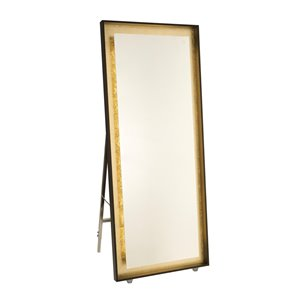 Artcraft Lighting Reflections AM314 LED Mirror - 27.5-in x 67-in - Oil Rubbed Bronze & Gold Leaf