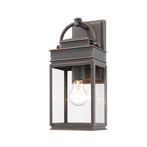 Artcraft Lighting Fulton AC8220OB Outdoor Wall Light - 13.5-in - Oil Rubbed Bronze