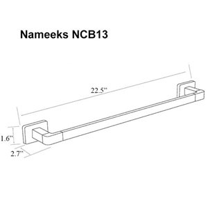 Nameeks General Hotel Wall Mounted Towel Bar In Chrome - 22-in