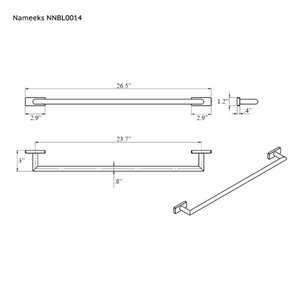 Nameeks Boutique Hotel Wall Mounted Towel Bar In Chrome
