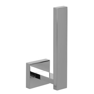 Nameeks Modern Hotel Wall Mounted Toilet Paper Holder In Chrome - 2.7-in x 5.8-in x 1.8-in