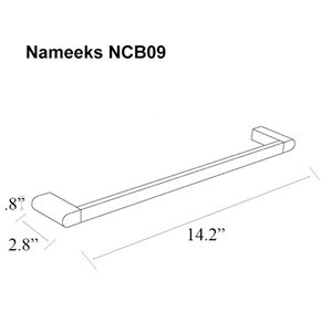 Nameeks General Hotel Wall Mounted Towel Bar In Chrome - 14-in