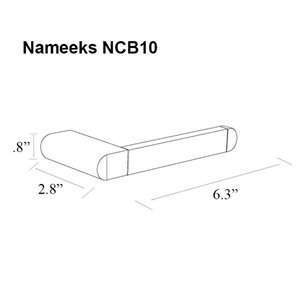 Nameeks General Hotel Wall Mounted Toilet Paper Holder In Chrome - 2.75-in x 0.75-in x 6.25-in