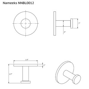Nameeks Boutique Hotel Wall Mounted Bathroom Hook In Black