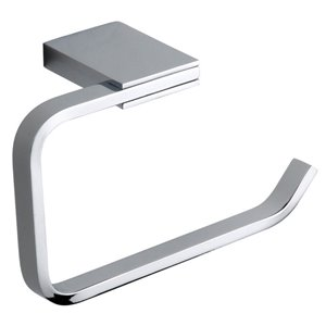 Nameeks General Hotel Wall Mounted Toilet Paper Holder In Chrome - 2.75-in x 3.9-in x 7.1-in