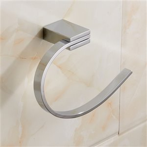 Nameeks General Hotel Wall Mounted Towel Rings in Chrome