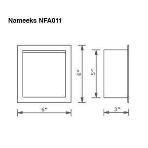 Nameeks General Hotel Wall Mounted Toilet Paper Holder In Chrome - 3-in x 6-in x 6-in