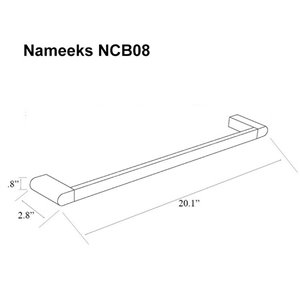 Nameeks General Hotel Wall Mounted Towel Bar In Chrome - 20-in