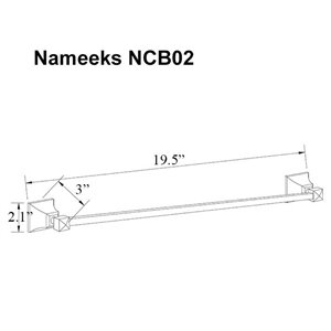 Nameeks Classic Hotel Wall Mounted Towel Bar In Chrome - 20-in